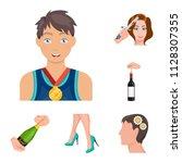 manipulation by hands cartoon... | Shutterstock .eps vector #1128307355