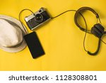 accessories for hipster... | Shutterstock . vector #1128308801