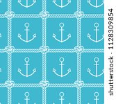 sea pattern. vector seamless... | Shutterstock .eps vector #1128309854
