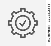 cog icon line symbol. isolated...