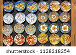 souvenir from sicily  fridge...   Shutterstock . vector #1128318254
