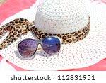 straw hat  sun glasses  sun...   Shutterstock . vector #112831951