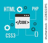 program coding website | Shutterstock .eps vector #1128322391