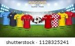 quarter final of football cup... | Shutterstock .eps vector #1128325241