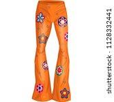 orange flower pants | Shutterstock .eps vector #1128332441