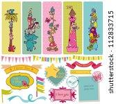 scrapbook design elements  ... | Shutterstock .eps vector #112833715