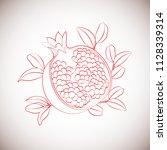 pomegranate fruit. vector...   Shutterstock .eps vector #1128339314