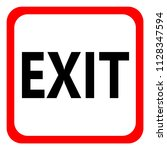 icon exit on white background.... | Shutterstock .eps vector #1128347594