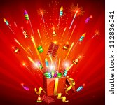 illustration of explosion of... | Shutterstock .eps vector #112836541