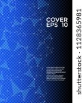 vector cover page layout.... | Shutterstock .eps vector #1128365981