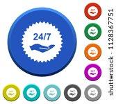 24 hours seven service sticker... | Shutterstock .eps vector #1128367751