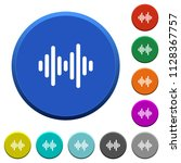 sound wave round color beveled... | Shutterstock .eps vector #1128367757
