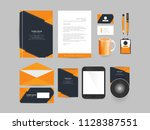 innovative office stationery or ... | Shutterstock .eps vector #1128387551