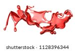a splash of a transparent red... | Shutterstock . vector #1128396344