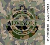 advisory on camo pattern | Shutterstock .eps vector #1128399065