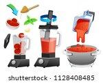 improving the taste of tomato... | Shutterstock .eps vector #1128408485