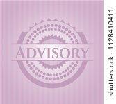 advisory pink emblem. vintage. | Shutterstock .eps vector #1128410411
