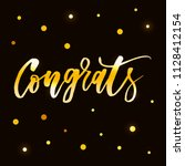 congrats vector phrase... | Shutterstock .eps vector #1128412154