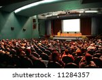 presentation in auditorium | Shutterstock . vector #11284357