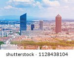 la part dieu district and its... | Shutterstock . vector #1128438104