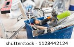 common set of construction... | Shutterstock . vector #1128442124