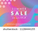 summer sale banner.unique... | Shutterstock .eps vector #1128444155