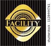 facility gold shiny badge   Shutterstock .eps vector #1128444761