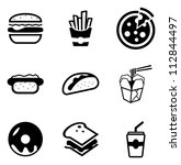 fast food icons | Shutterstock .eps vector #112844497