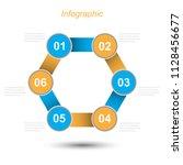 info graphic design template.... | Shutterstock .eps vector #1128456677