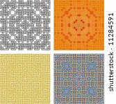 geometrical pattern  coloured... | Shutterstock .eps vector #11284591