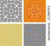 geometrical pattern  coloured...   Shutterstock .eps vector #11284591
