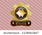 golden emblem or badge with... | Shutterstock .eps vector #1128461867