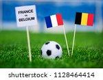 france and belgium national... | Shutterstock . vector #1128464414