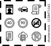 simple 9 icon set of law... | Shutterstock .eps vector #1128471161