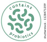 contains probiotics label in... | Shutterstock .eps vector #1128471359