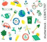 kids environment icons  | Shutterstock .eps vector #1128471707