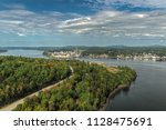 downtown bucksport maine and... | Shutterstock . vector #1128475691