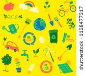 kids environment icons  | Shutterstock .eps vector #1128477317