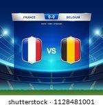 france vs belgium scoreboard...   Shutterstock .eps vector #1128481001