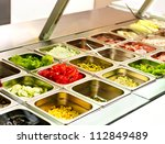 tray with cooked food on...   Shutterstock . vector #112849489