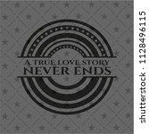 a true love story never ends... | Shutterstock .eps vector #1128496115