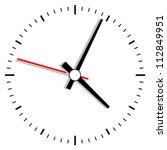 vector clock illustration | Shutterstock .eps vector #112849951