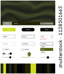 dark green  yellow vector style ...