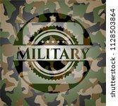 military written on a... | Shutterstock .eps vector #1128503864