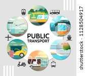 flat public transport round... | Shutterstock .eps vector #1128504917