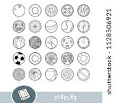 black and white set of circle... | Shutterstock .eps vector #1128506921