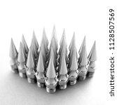 spikes chain balls nunchaku... | Shutterstock . vector #1128507569