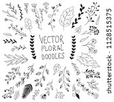 bih set of hand drawn vector... | Shutterstock .eps vector #1128515375