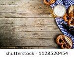 oktoberfest food menu  bavarian ...   Shutterstock . vector #1128520454