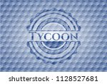 tycoon blue emblem or badge...   Shutterstock .eps vector #1128527681